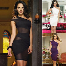 Dress party Sexy party Bandage Bodycon One shoulder Cocktail Pencil Clubwear