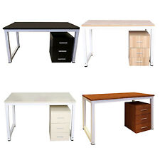 Modern Metal Computer PC Home Office Desk / Study Table Bedroom Beige U8F5