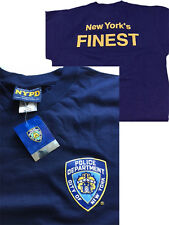 New Small size S Navy Blue NYPD York City Police T Shirt Cap Top 'NY FINEST'