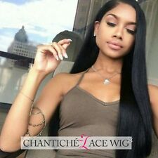 Women's Indian Remy 100 Human Hair Lace Front Wigs Silky Straight Full Lace Wigs