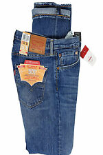 Mens Levis 501 2381 Straight Leg Button Fly Blue Balboa Strong Jeans