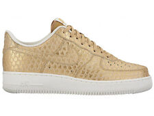 NEW MENS NIKE AIR FORCE 1 LV8 BASKETBALL SHOES TRAINERS METALLIC GOLD / SUMMIT