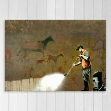 Canvas Print Banksy Official Graffiti Art Street Art Cave Painting Removal