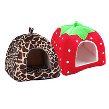 Bed House Cute Dog Cave Cat Puppy Pet Soft Mat Sleeping Kennel Pad Slippers Warm