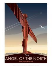 Angel of the North - Dave Thompson Contemporary Travel Print Art Print by