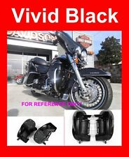 Vivid Black Lower Vented Fairing For Harley Touring Street Electra Glide 83-2017