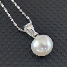 8-9mm Freshwater Pearl 925  Silver Pendant and Necklace