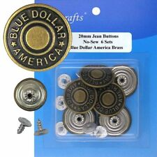 Popular  20 mm No-Sew Jean Tack Buttons Assorted Set of 50 w/Setter Tool