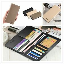 Long PU Leather Wallets Men Business Purses Male Phone Credit Card Holders NEW V