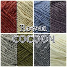 Rowan Cocoon Chunky Wool + Mohair Knitting Soft Roving Yarn 100g Ball 8 Colours