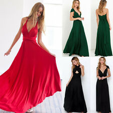 Women's Bridemaid Gown Convertible Multi Way Wrap Evening Party Long Maxi Dress