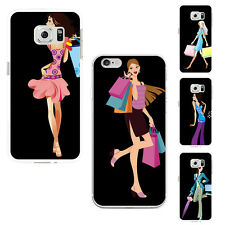 FASHION SHOPPING GIRL PRINT CASE COVER FOR SAMSUNG GALAXY S7 IPHONE 6 HONEST