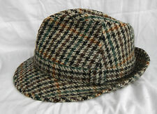 Dunn & Co Fine Quality Pure Wool Tweed Trilby Hat - 56cm / 6.7/8