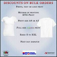 T Custom Personalised Shirts Printed Stag Hen Design Party White T-shirt Only