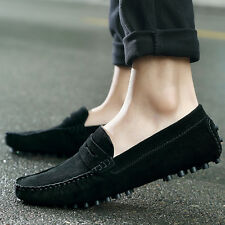 Men Fashion Style Soft Moccasins Loafers Genuine Leather Flats Driving Shoes