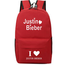 Justin Bieber Luminated backpack Women Men Student schoolbag Handbag Bookbag