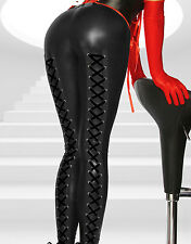 Sexy Womens Bondage High Tight Stocking Faux Leather Pants Clubwear Lingerie Hot