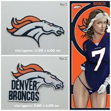 Patch Denver Broncos Embroidered Sew Iron on Patch NFL Sport Free Shipping Badge