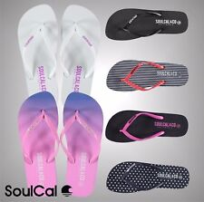Ladies Branded SoulCal Summer Maui Flip Flops Pool Beach Footwear Size 4 5 6 7