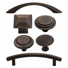 Classic and Modern Kitchen Bath Cabinet Hardware Knobs Pulls, Oil Rubbed Bronze