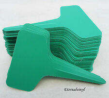 6cm x 10cm T Type Plastic Seed / Plant Labels : Green