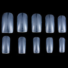 500Pcs Full Half French False Acrylic Nail Art Tips Clear Natural UV Gel Fashion