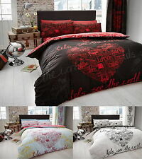 Luxury WORLD Duvet Quilt Cover Bedding Set with Pillowcases – All sizes