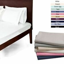 100% EGYPTIAN COTTON FLAT SINGLE DOUBLE KING SUPERKING 200 THREAD COUNT SHEETS