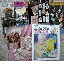 Choice of Tole Paint & Spring Craft Pattern Booklet Birdhouse Button Face Easter