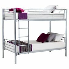 New Special Offer Single Metal Bunk Beds Frame for Adult and Children Silver