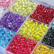 Czech 500pcs 4mm Hole:2mm Round Solid Opaque Glass Seed Beads Jewelry Making