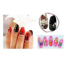 Pretty Grid pattern Nail Art Nail Decals Wraps Water Transfer Stickers DIY