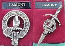 Lamont Scottish Clan Crest Badge or Kilt Pin Ships free in US