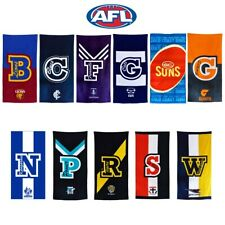 AFL Football Footy Team Official Licensed 100% Cotton Beach Towel - 150 x 75cm