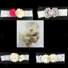 Simple Girls Floral Flower Lace Pearls Headband Hair Band Party Hair Accessories