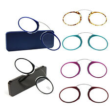 Nose Reading Glasses +1.0 to +3.5, Portable  Wallet Reader With Case Glasses