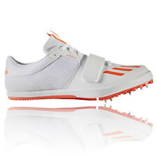 Adidas Jumpstar Mens White Orange Athletic Track Field Shoes Spikes Trainers
