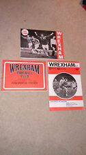 Wrexham FC Football programmes 1975-77