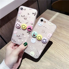 Cute Cartoon Smile Face Clear TPU Soft Silicon Case Cover For iPhone 7/7 plus/6s