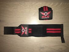 RCG Power Weight Lifting Wrist Wraps Supports Gym Training Fist Straps BLACK 15""