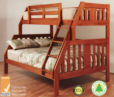 Troy Trio Double/Single Timber Bunk Bed With/Without Trundle Kids Children Room