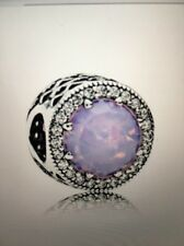Genuine Pandora Opalescent Pink Radiant Hearts Charm