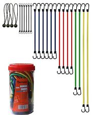 Bungee Cords Assortment Jar 24 Piece in Jar Tie Downs, Camping, Hauling,...