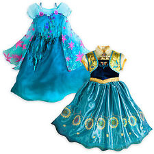 NWT Disney Store Frozen Fever 2 in 1 Elsa and Anna Princess Costume Girls Dress