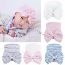 New Unisex Baby Cap Beanie Girl Toddler Infant Children Cotton Soft Cute Bow Hat