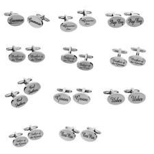 Wedding Jewelry Gifts Mens Shirt Cufflinks Oval Silver Cuff Links Accessories