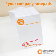 A6 note pads with logo. BRANDED NOTEPADS Jotter pads