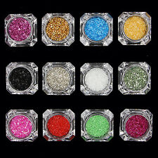 YH 1 Box Muilt-Color Nail Sequins Candy Glass Paper Glitter Manicure Decoration