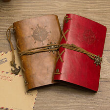 RETRO ANCHOR FAUX LEATHER COVER NOTEBOOK JOURNAL DIARY BLANK NAUTICAL WARM