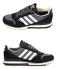 Brand New adidas Originals ZX500 Running Shoes Leather Sneakers Black/Gray